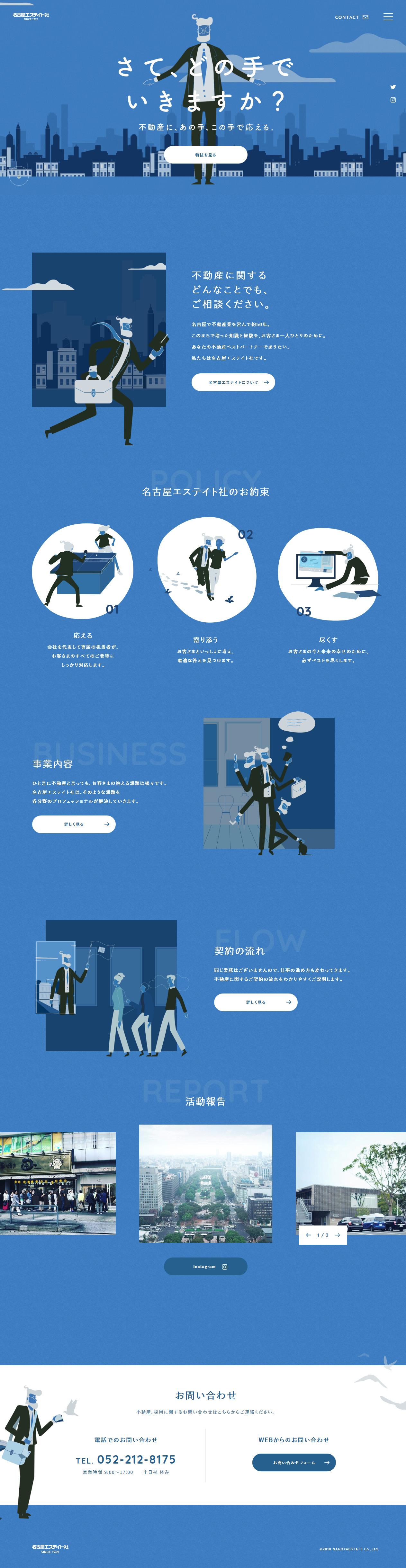 名古屋エステイト社PC版イメージ